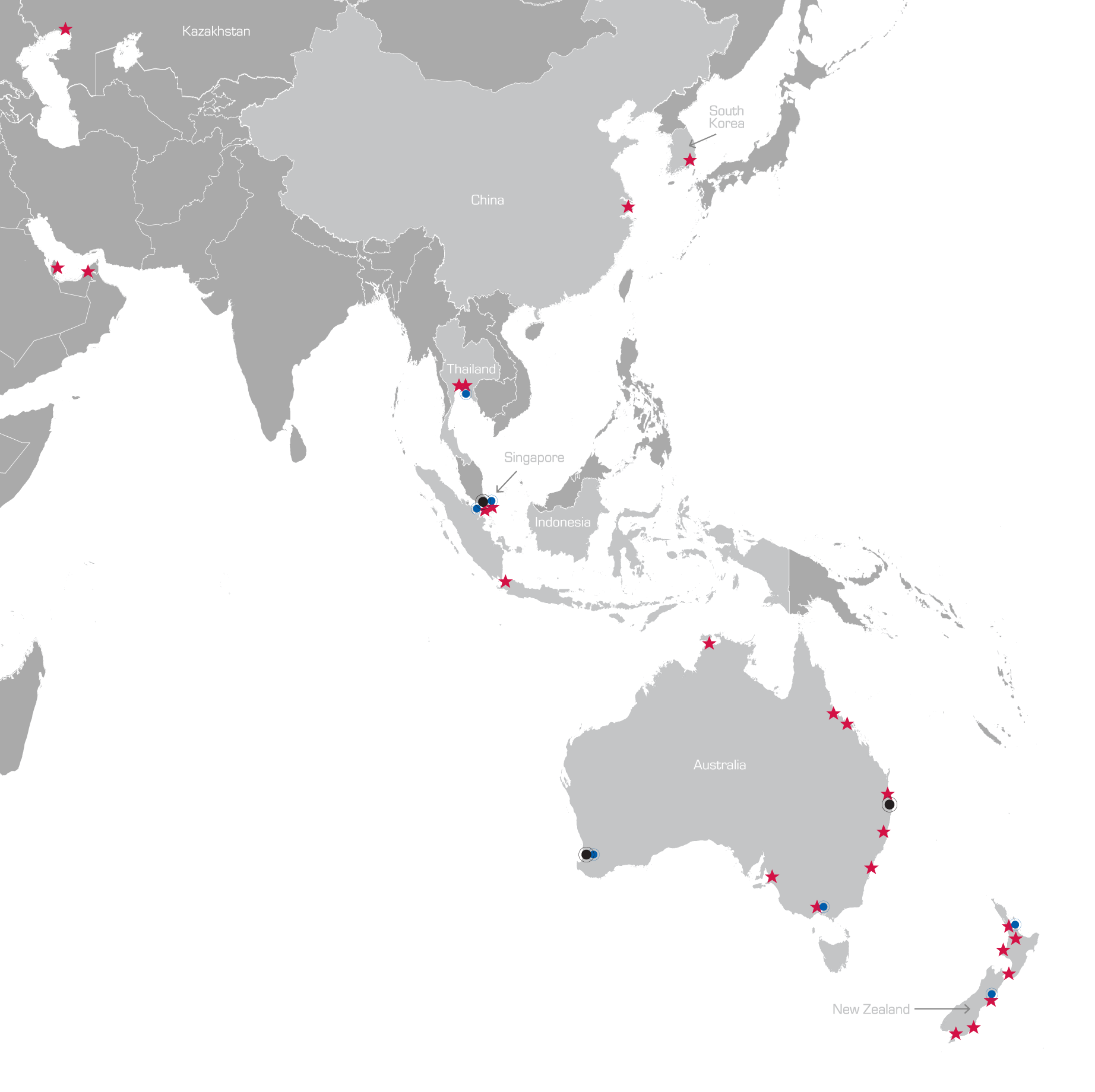 Asia Pacific Locations